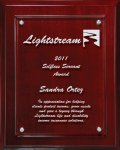 Lasered Lucite on Mahogany Finish Board Achievement Awards