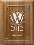 Lasered Lucite on Bamboo Board Achievement Awards