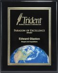 Ebony Finish Plaque with Themed Florentine Plate Achievement Awards
