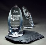 Sheared Lucite Cylinder Employee Awards