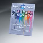 Thick Lucite Wall Plaque with Custom Digi-Color Employee Awards