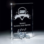Optic Crystal Rectangle with Star Base Sales Awards