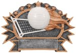 Resin Plate - Volleyball  Volleyball Trophy Awards